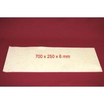 Feuille de Feutre Blanc en 6 mm (700x250)