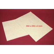 Feuille de Feutre Blanc de 4mm (350x250)