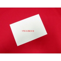 Feuille de Feutre Blanc en 6 mm (175x250)