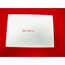 Feuille de Feutre Blanc en 6 mm (350x500)